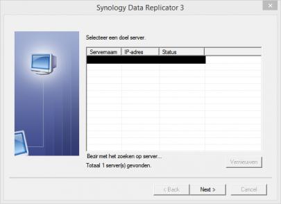 Resultaten in Data Replicator