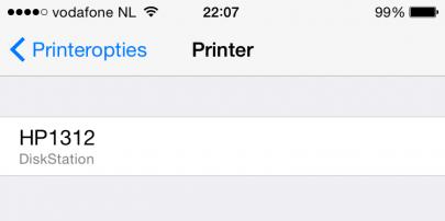 Kies de AirPrint printer.