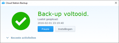 Backup Voltooid